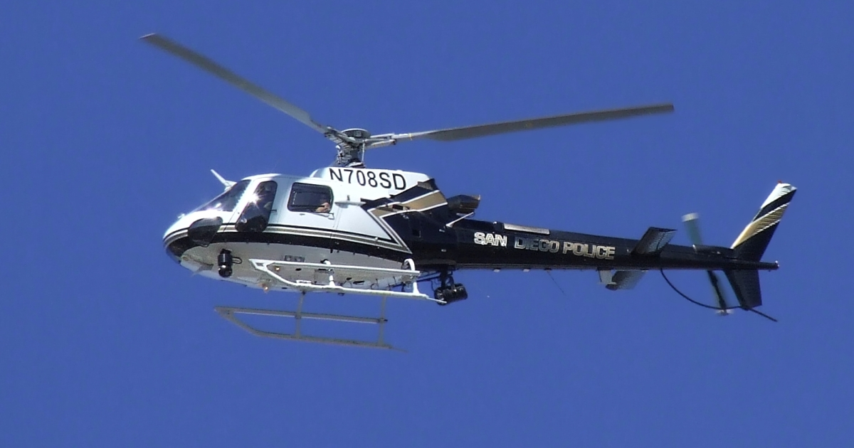 The Eurocopter AS350 Ecureuil (Squirrel).</p>