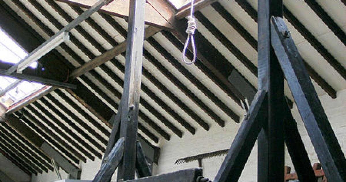 A rare surviving new drop gallows in England's Rutland County.</p>
