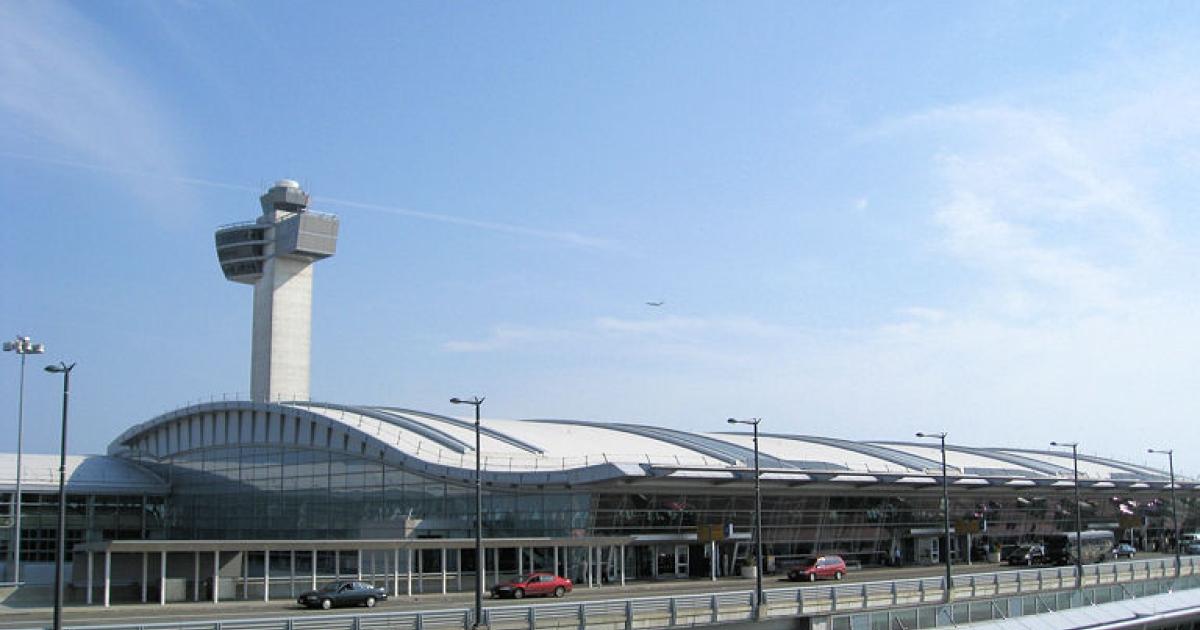 John F Kennedy International Airport in New York City.</p>