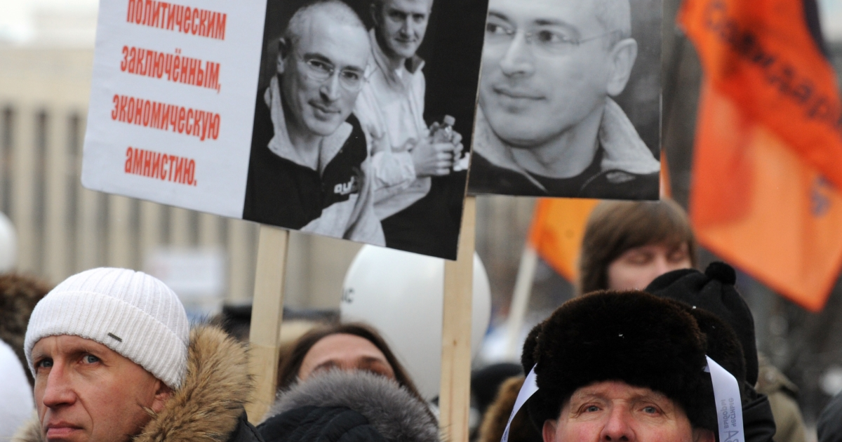 A potent symbol for anti-Kremlin protesters, Khodorkovsky remains irrelevant for most Russians.</p>