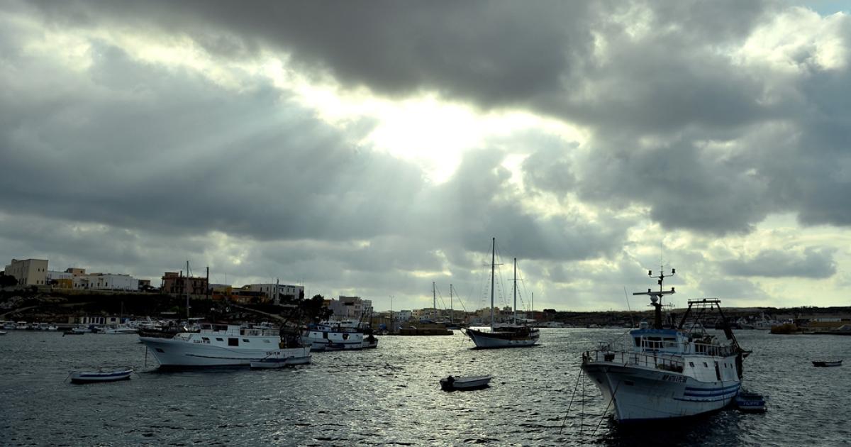 Lampedusa harbor, Oct. 5, 2013.</p>