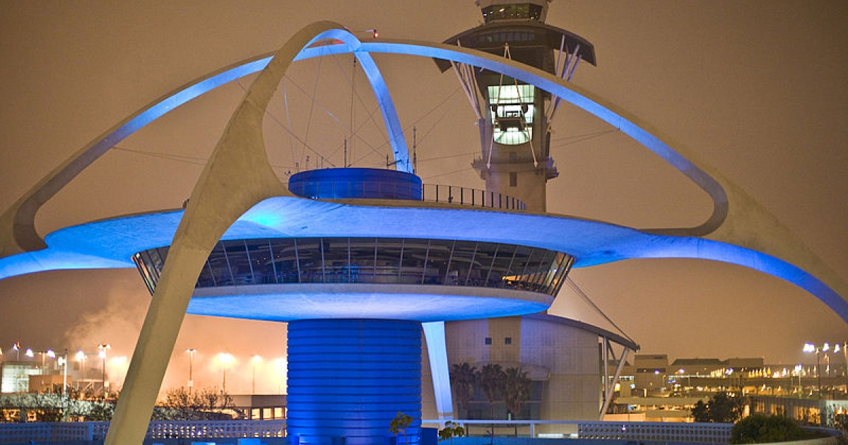 The control tower at Los Angeles International Airport, or LAX.</p>