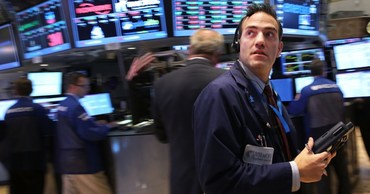 Markets slid as the US government shutdown entered its second week.</p>