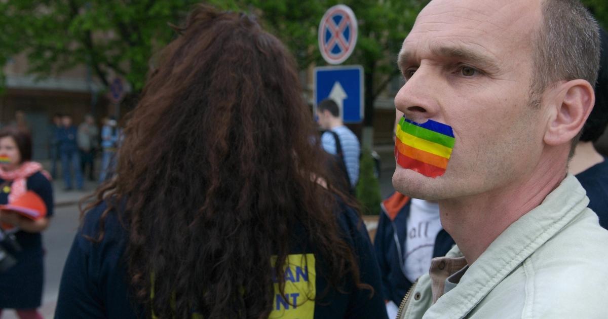 Protesters in Chisinau.</p>