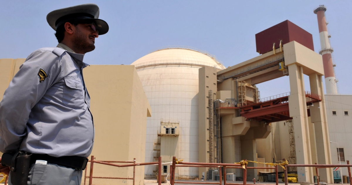 A view of the reactor building at the Russian-built Bushehr nuclear power plant as the first fuel is loaded, in 2010 in southern Iran. Iran claims that its nuclear program is peaceful despite claims from US and Israeli leaders.</p>