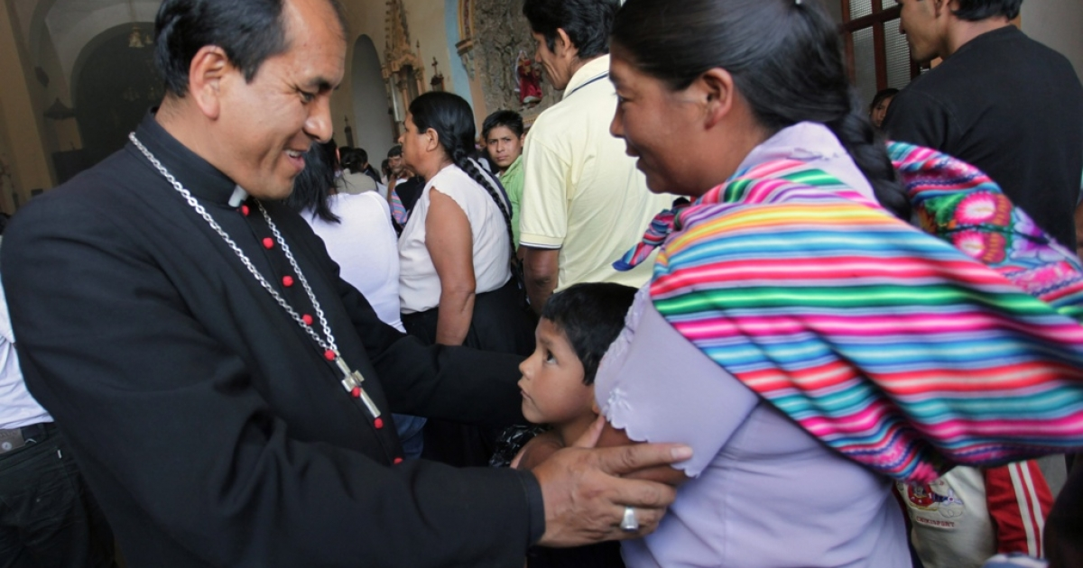 Gabino Miranda, then auxiliary bishop in southeastern Peru. Miranda has been defrocked and on the run after allegations he sexually abused children.</p>