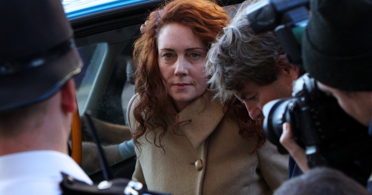 Former News International Chief Executive Rebekah Brooks arrives for the first day of the phone-hacking trial at London's Central Criminal Court on Oct. 28, 2013.</p>
