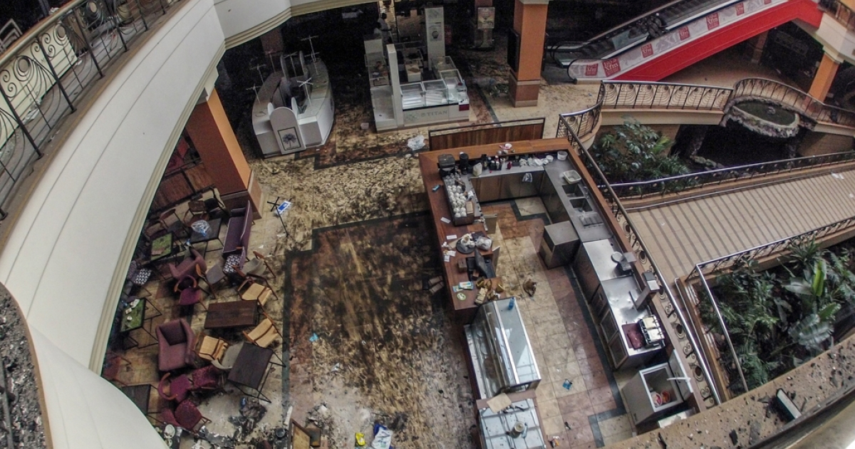 Westgate mall in Nairobi, Kenya, Sept. 30, 2013.</p>