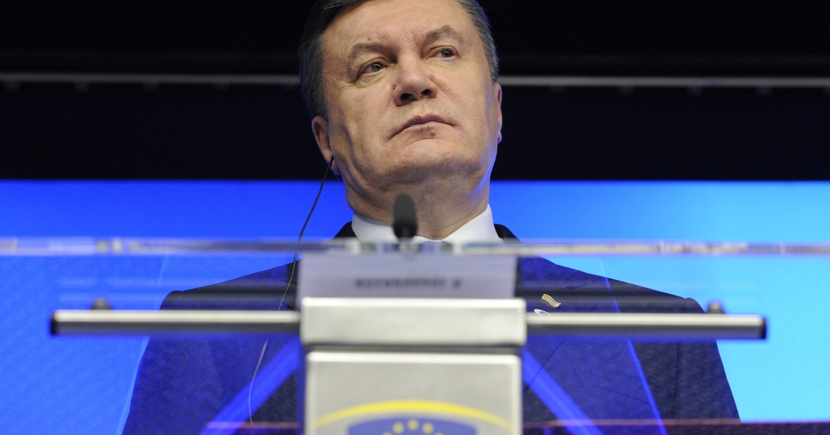 Made his choice? Yanukovych at an EU-Ukraine summit in Brussels this year.</p>
