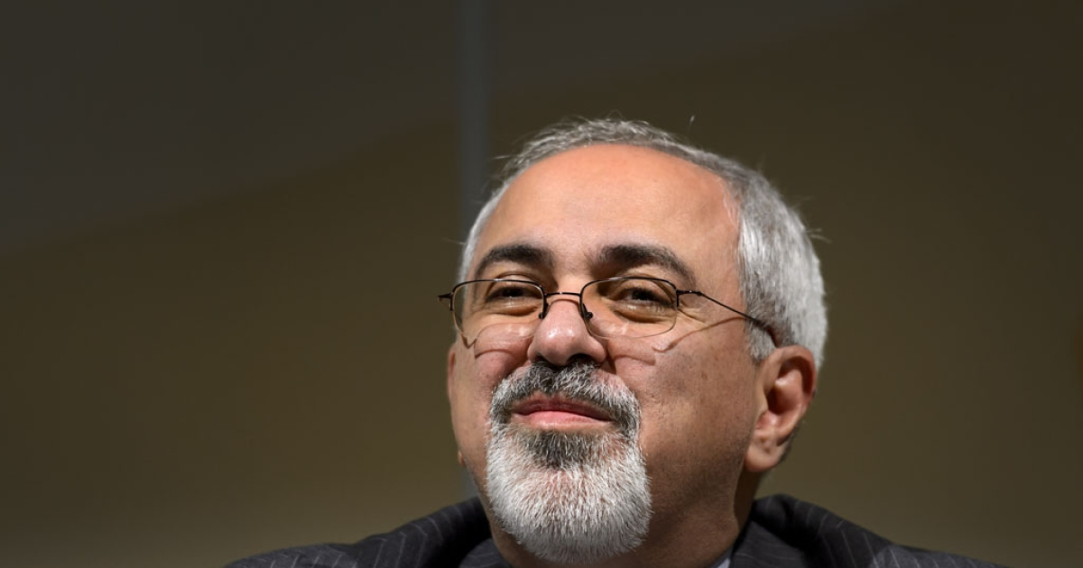 Iran's Foreign Minister Mohammad Javad Zarif speaks to reporters after two days of closed-door nuclear talks on October 16, 2013 in Geneva. World powers poured over what Iran billed as a breakthrough to end the decade-long standoff over its nuclear program amid thawing diplomatic tones, but stark warnings from Israel.</p>