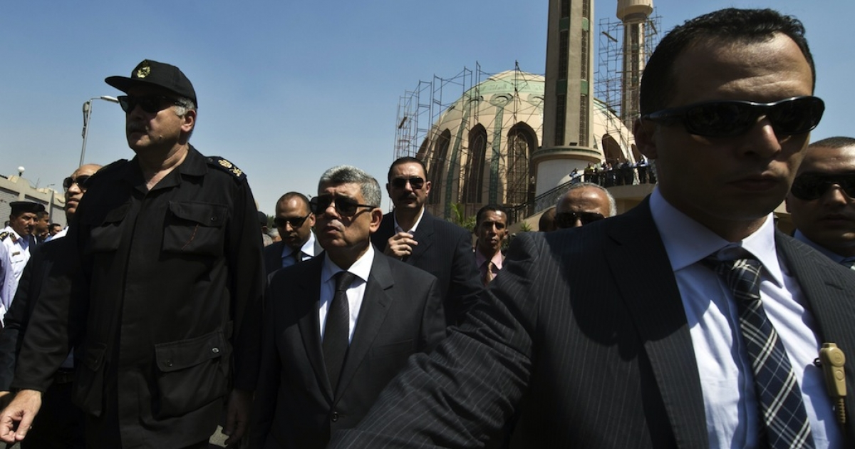 Egypt's interior minister Mohamed Ibrahim's convoy was attacked by a bomb on Thursday as he left his residence in Nasr City.</p>