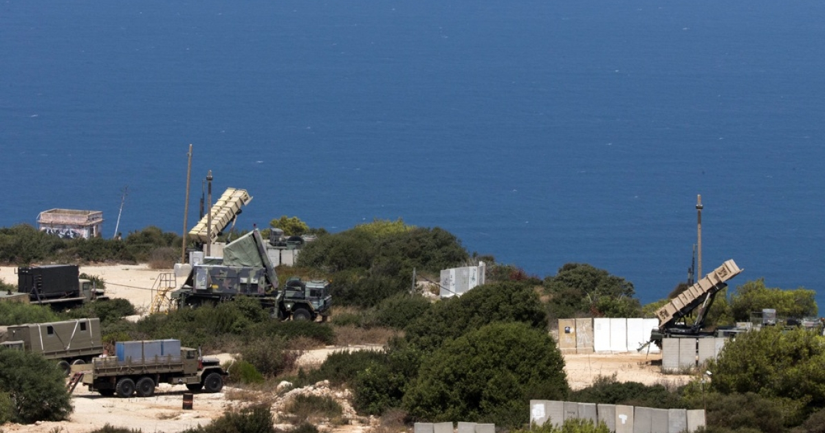 Patriot surface-to-air missile batteries are positioned in the Mediterranean coastal city of Haifa north of Israel on August 29, 2013. On September 3, Israel announced that it had carried out a missile test in the Mediterranean Sea.</p>