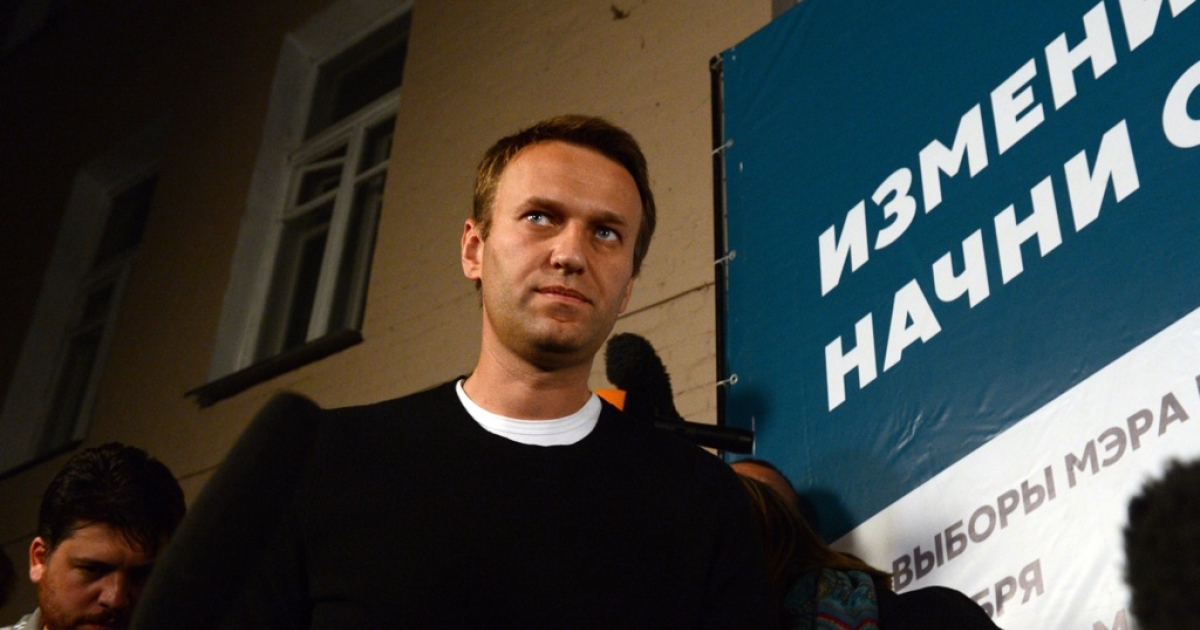 Opposition candidate Alexei Navalny at his campaign headquarters in Moscow, on September 8, 2013. Navalny, a top critic of President Vladimir Putin, faced Kremlin-backed incumbent mayor Sergei Sobyanin in a hotly contested Moscow mayoral poll, the first time an opposition leader has been allowed to stand in a high-profile election.</p>
