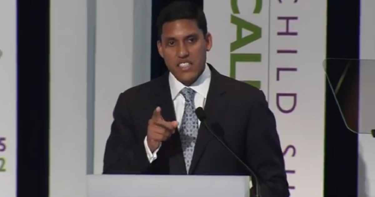 Rajiv Shah, USAID administrator, at the Child Survival Call to Action in June, 2012.</p>