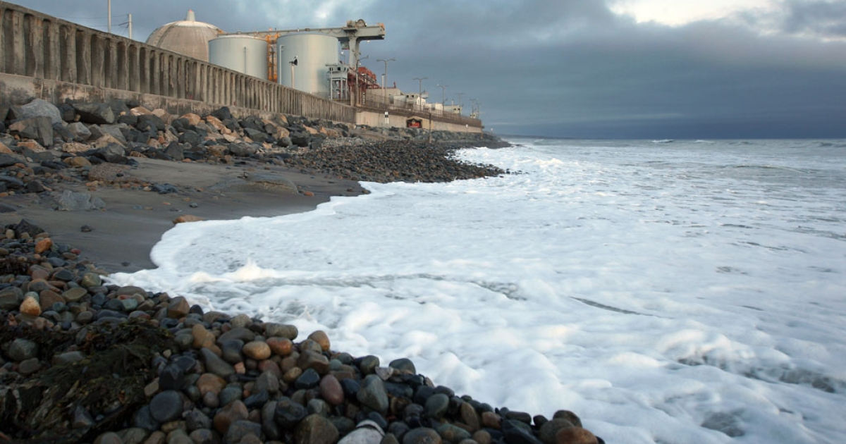 Pacific Ocean waves come ashore near the San Onofre Nuclear Generating Station, south of San Clemente, California. A new report issued Sept. 4, 2013, says a