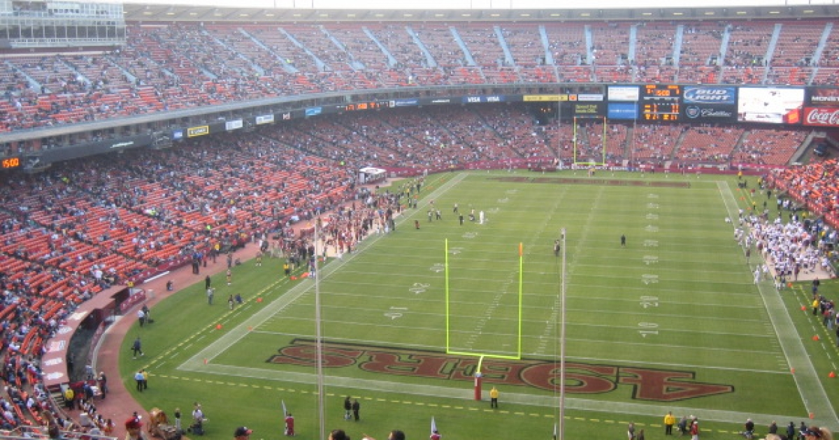 San Francisco's Candlestick Park sports arena.</p>