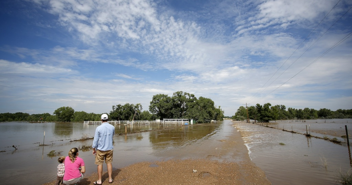 WIGGINS, CO - SEPTEMBER 14: Heavy rains for the better part of week fueled widespread flooding in numerous Colorado towns on September 14, 2013.</p>