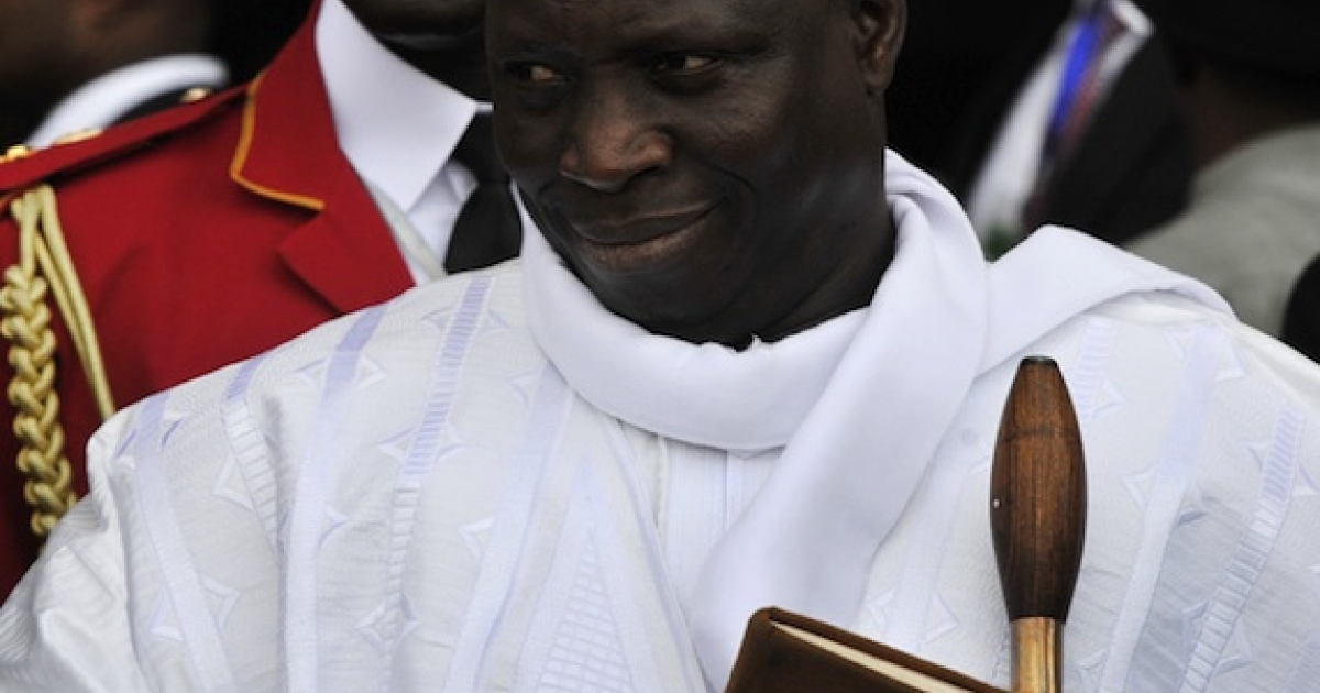 Gambian President Yahya Jammeh claims he can cure Aids with a herbal body rub and bananas.</p>