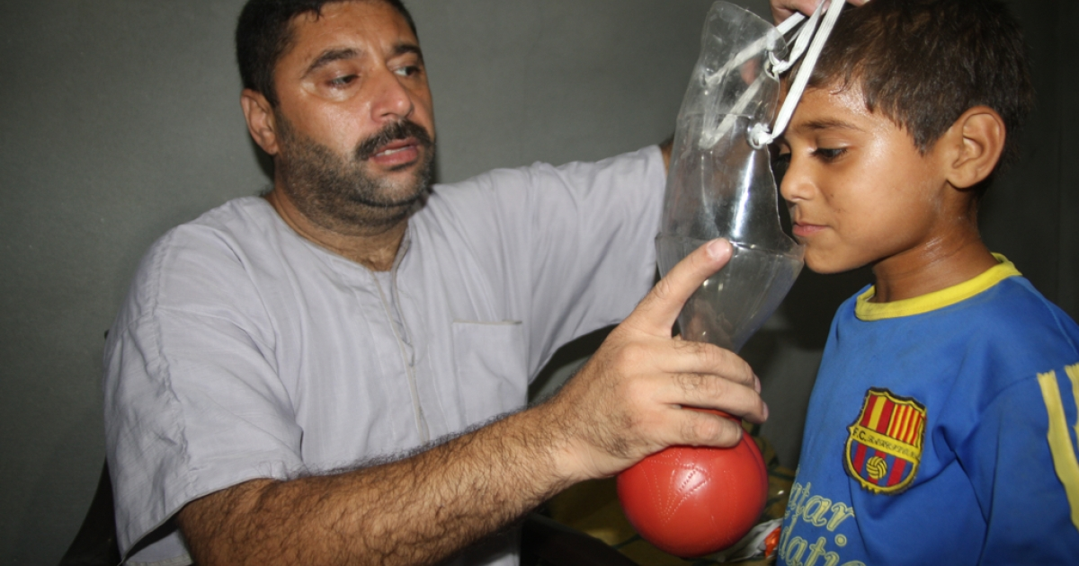Gaza resident Nafez Nayef is making homemade gas masks for his family and friends, worried that a US strike on Syria will prompt the Assad regime to hit back at Israel with chemical weapons.</p>