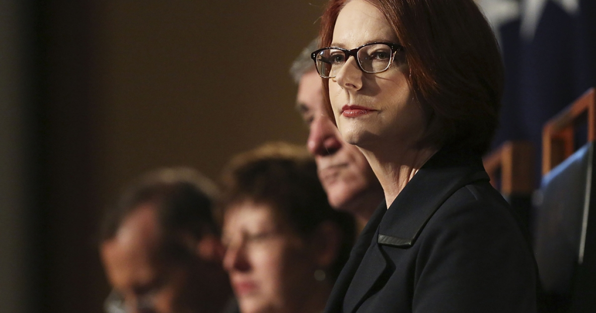 Then Prime Minister Julia Gillard on June 24, 2013 in Canberra, Australia. In September, she said losing power was like being