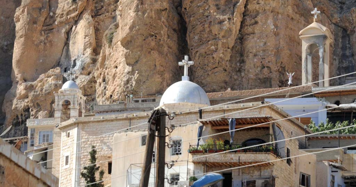 A picture shows Mar Takla Greek Orthodox monastery in the Syrian Christian town of Maalula on Sept. 7, 2013. Maalula is a symbol of the Christian presence in Syria, and many of its inhabitants speak Aramaic, the language spoken by Jesus Christ that only small, scattered communities around the world still use.</p>