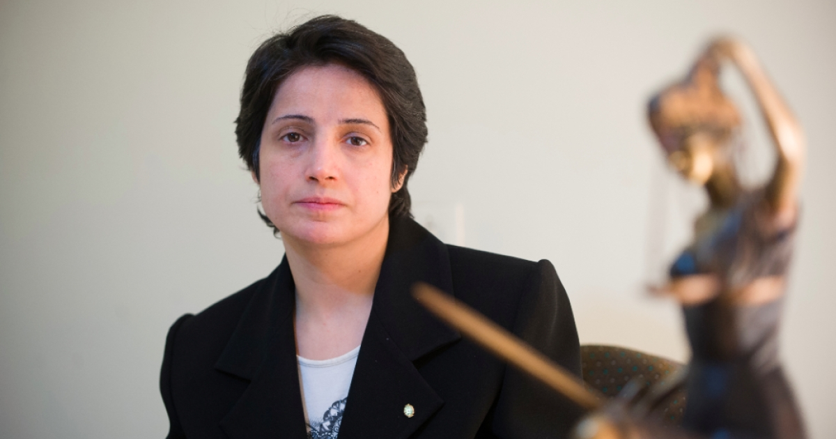 Iranian lawyer Nasrin Sotoudeh in Tehran on November 1, 2008. Sotoudeh was reportedly released from prison only three years into her six-year term on Wednesday, September 18, 2013.</p>