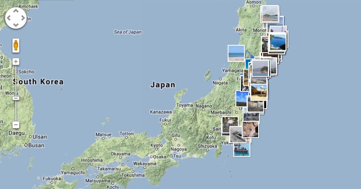 Google has collected pictures of Japan before and after its devastating earthquake and tsunami in 2011.</p>
