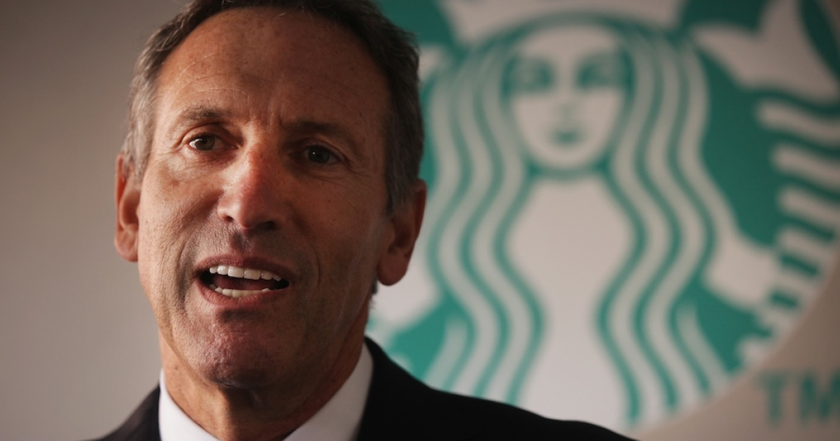 Starbucks CEO Howard Schultz wants customers to leave their guns at home.</p>