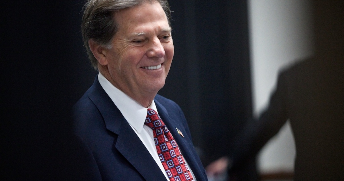 Former House Majority Leader Tom DeLay arrives at court for his sentencing hearing on Jan. 10, 2011 in Austin, Texas.</p>