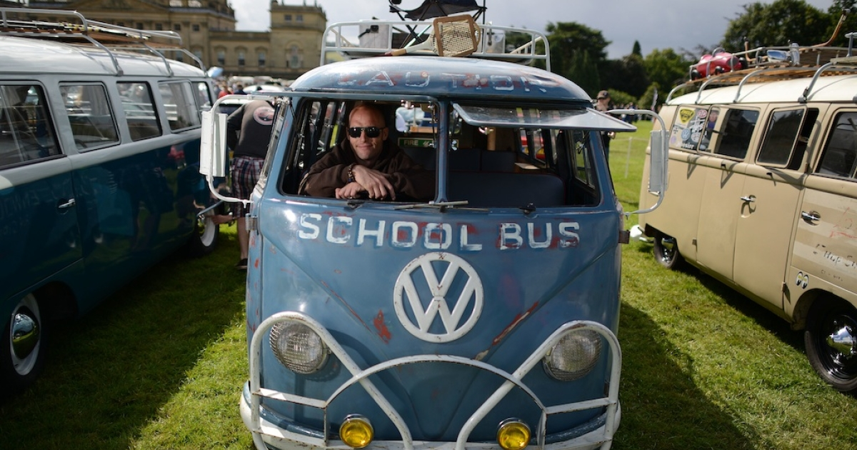 The annual VW festival finished off with the winners' parade of cars on August 18, 2013 in Leeds, England. (Photo by Nigel Roddis/Getty Images)</p>