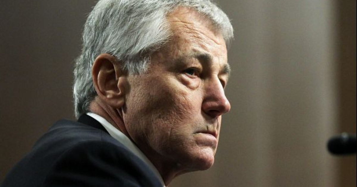 Former US Senator Chuck Hagel testifies before the Senate Armed Services Committee during his confirmation hearing to become the next secretary of defense on Jan. 31, 2013, in Washington, DC.</p>