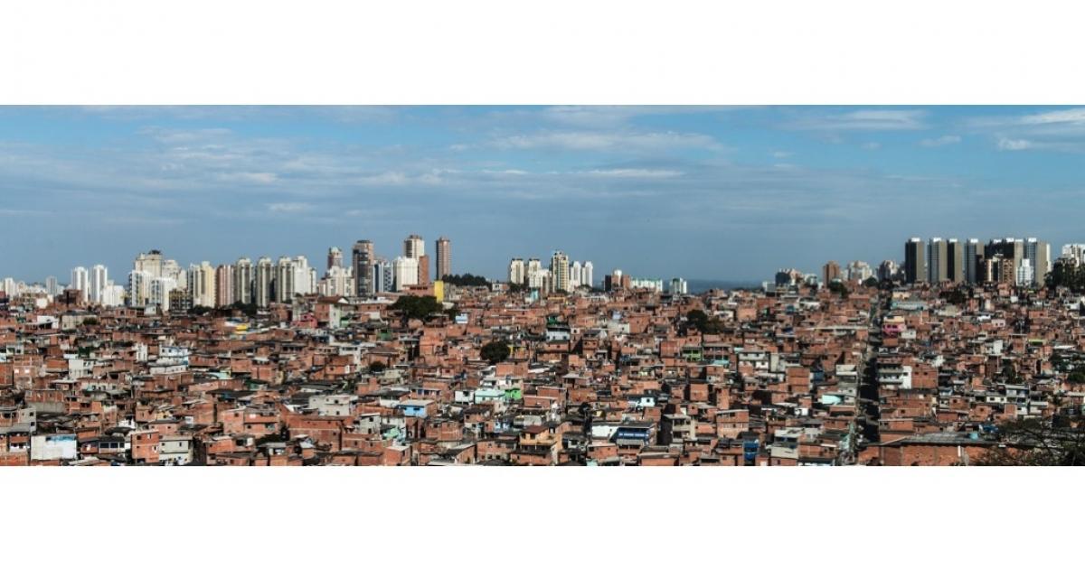 Paraisopolis favela, in Sao Paulo, Brazil.</p>