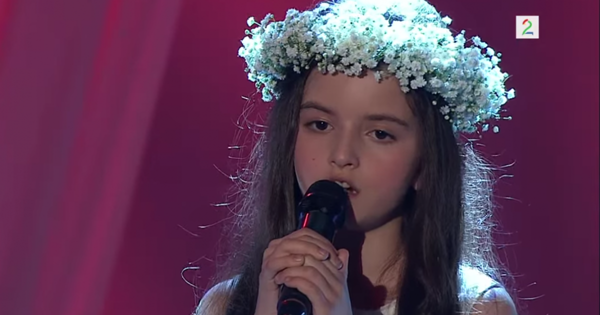 Angelina Jordan, 8, performs on 'Norway's Got Talent.'</p>