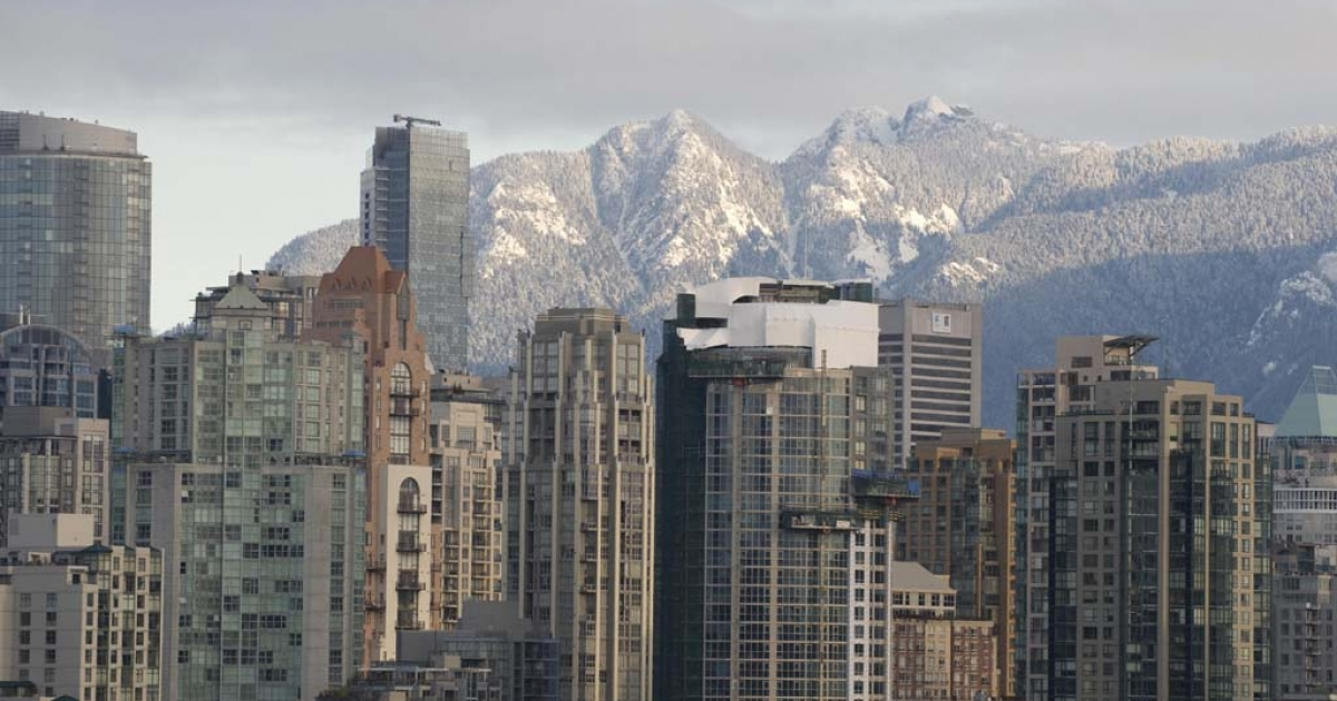 The Vancouver skyline is shown on Feb. 11, 2009.</p>