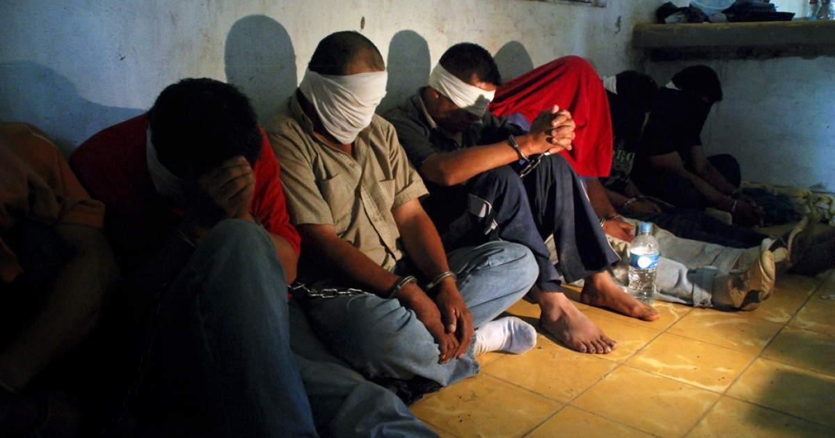 Mexican soldiers discovered this group kidnapped by alleged drug traffickers in 2010. Sixteen people, including a woman and a 2-year-old girl, were rescued during the operation.</p>
