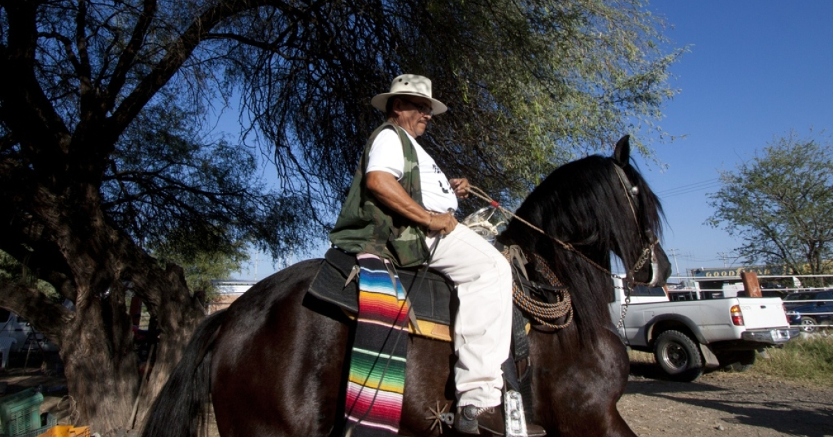 A member of a self-defense squad in Tepalcatepec, Michoacan state, Mexico.</p>