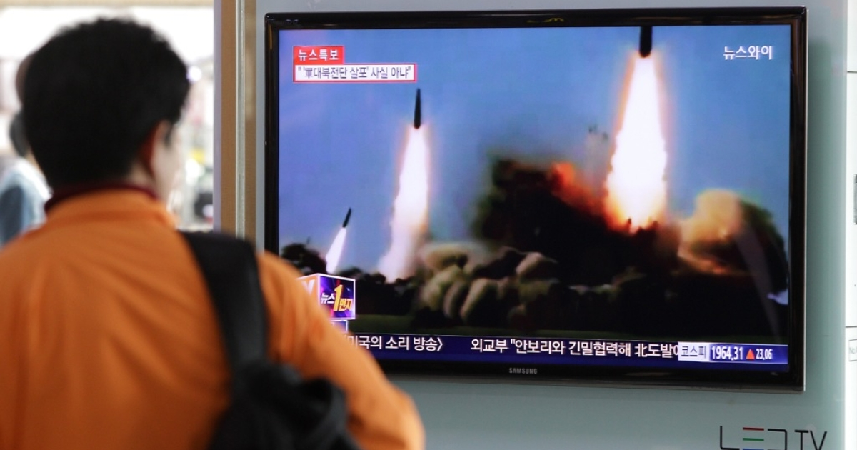 South Koreans watched reports of North Korean missile launches on March 26, 2014. Will another nuclear test be next?</p>