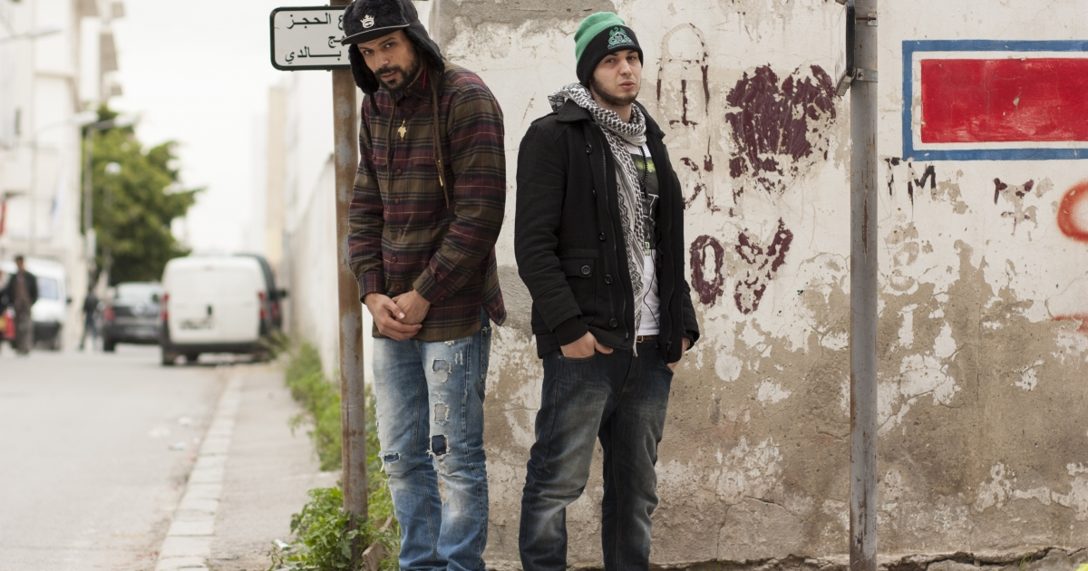 Underground rappers Med Big-M and Red B'm, part of a group known as