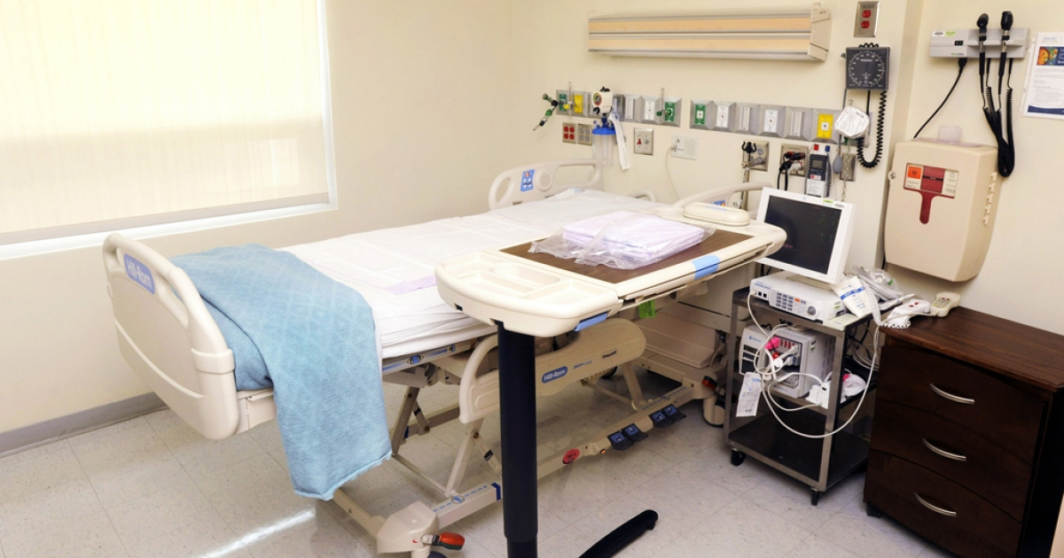 An isolation room at Emory University Hospital on August 1, 2014 in Atlanta, Georgia.</p>