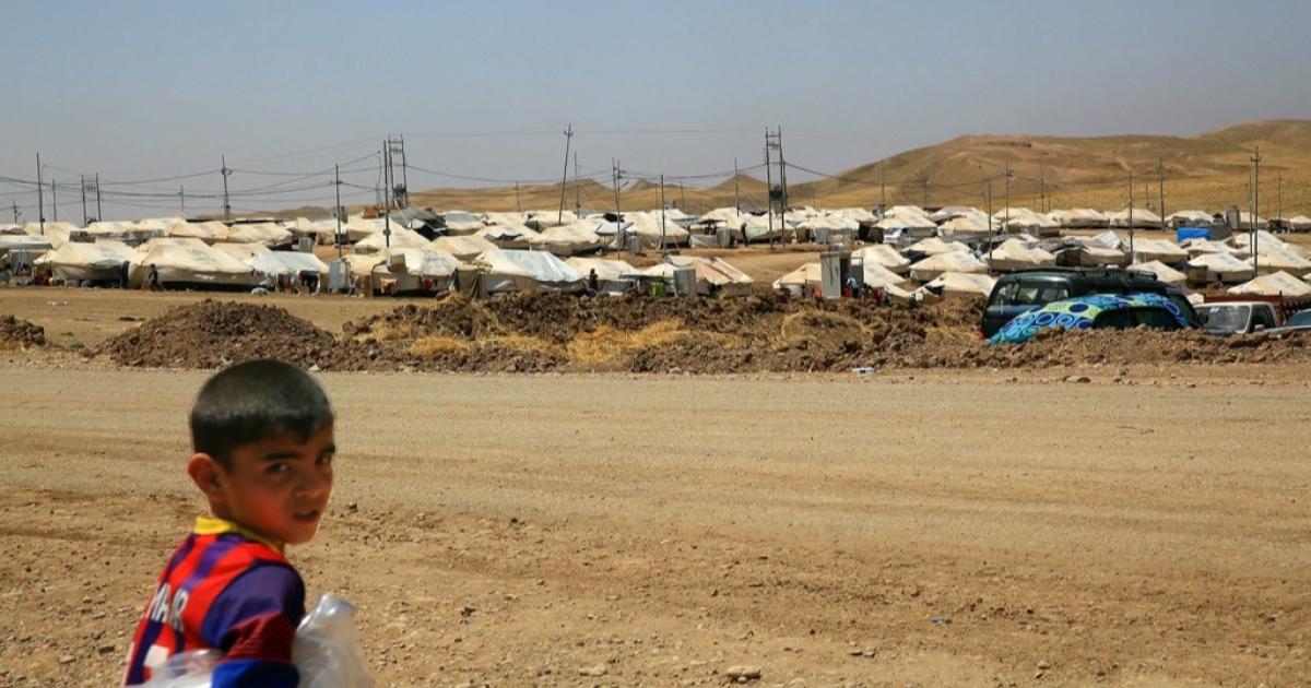 Some 2,500 displaced Iraqis live at Kamrava Refugee Camp.</p>