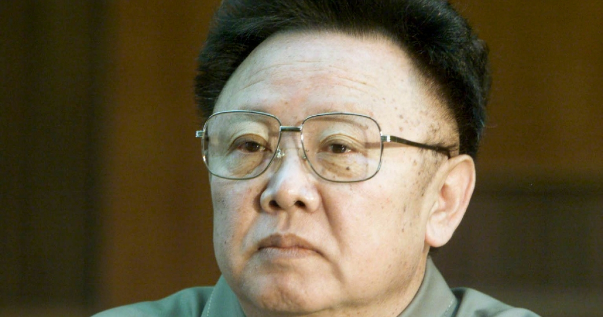 A file photo taken on March 3, 2001 shows North Korean Leader Kim Jong Il during a meeting with Sweden's prime minister.</p>