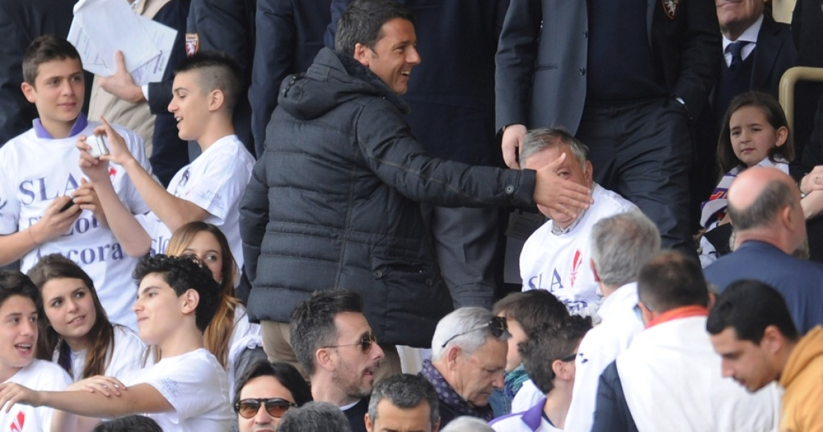 Matteo Renzi attends a soccer match on April 21, 2013. Young, dynamic and photogenic, the mayor of Florence is being touted as the man to lead Italy into the post-Berlusconi age.</p>