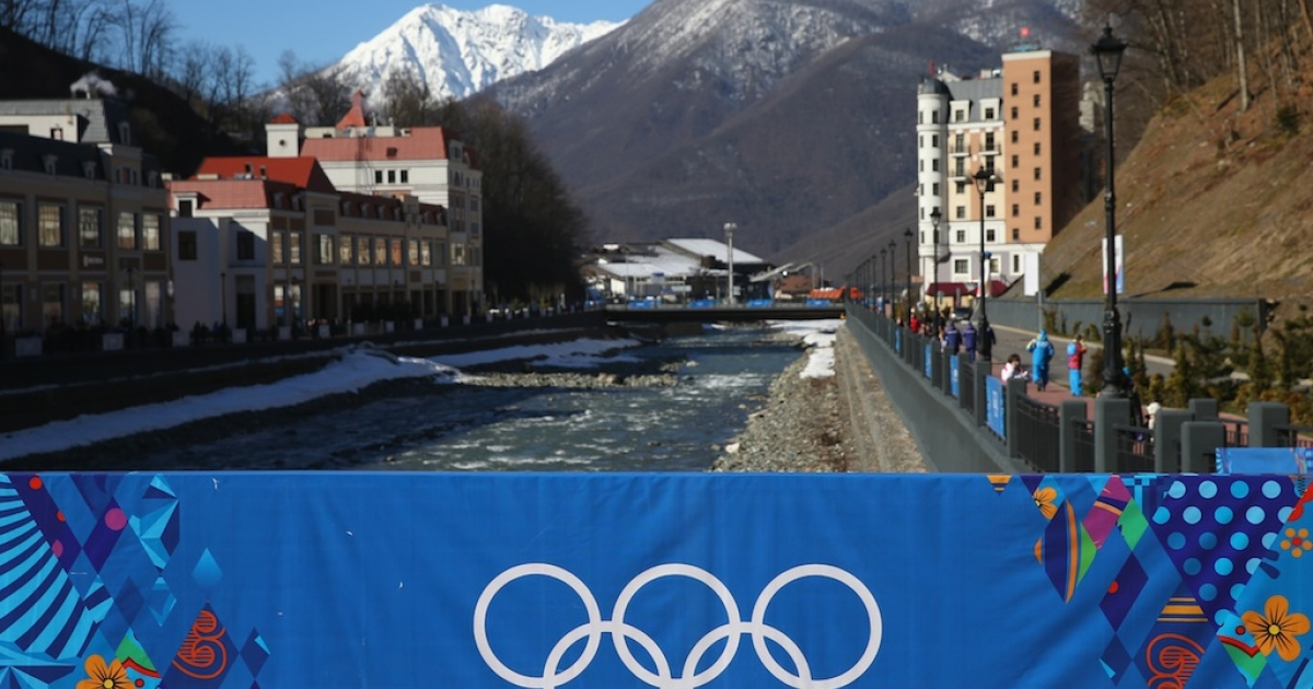 A general view of Rosa Khutor Mountain village cluster is seen prior to the Sochi 2014 Winter Olympics on February 3, 2014 in Sochi, Russia.</p>