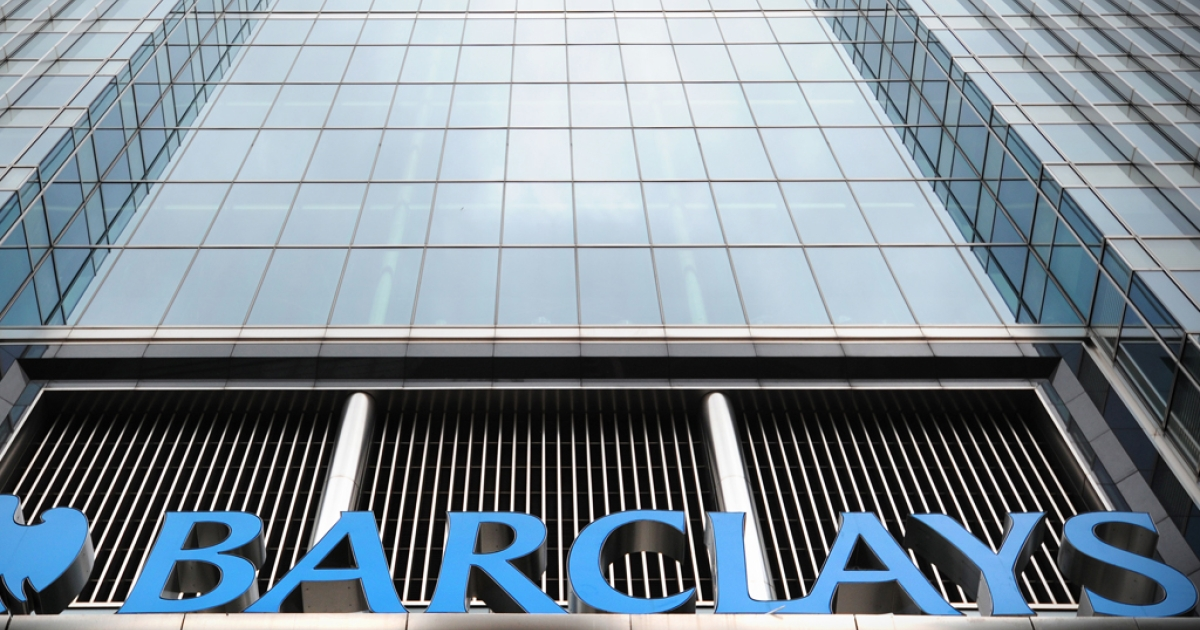 The Barclays bank headquarters is pictured in Canary Wharf in east London, on July 3, 2012.</p>