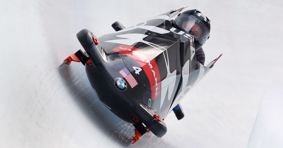 Sochi watch: the US bobsled by BMW.</p>