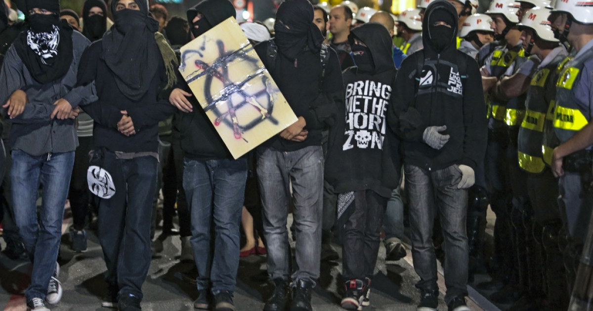 A young anarchist Black Bloc movement has taken over some of the protesting in Brazil.</p>