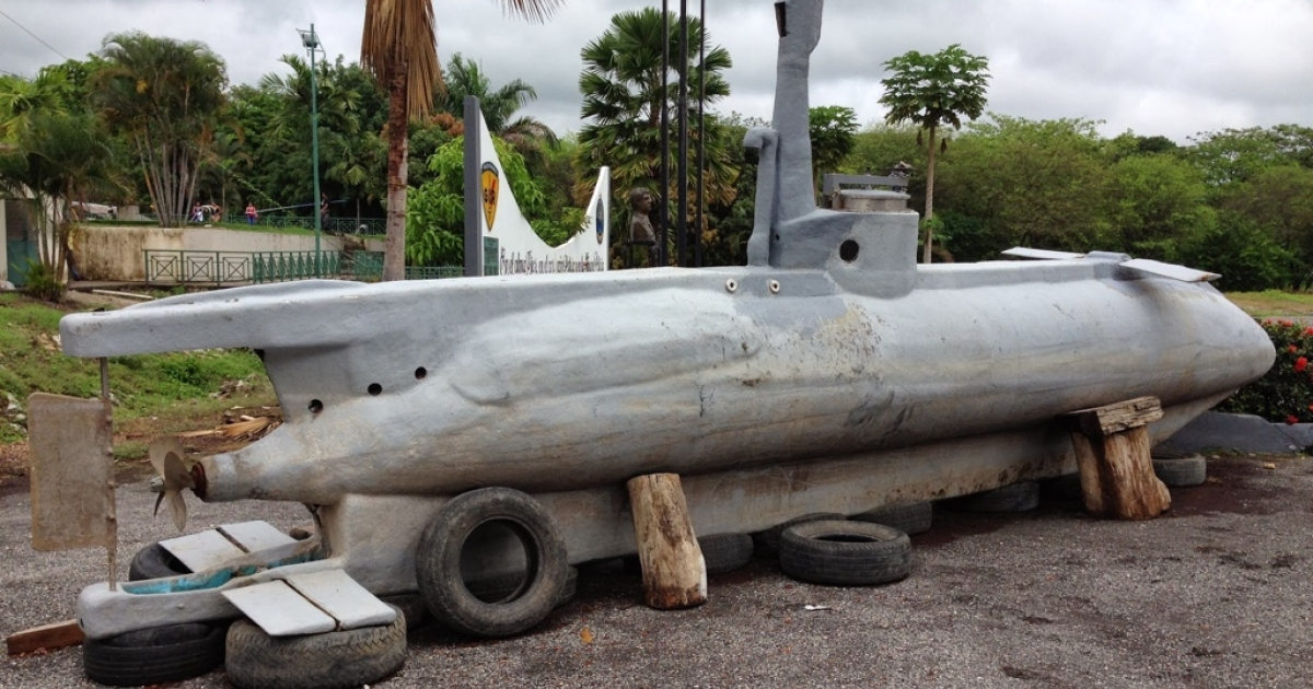 Ecuadorean police seized this homemade narco submarine, which travels at 10 mph, has no oxygen tanks and can dive for just 15 minutes.</p>