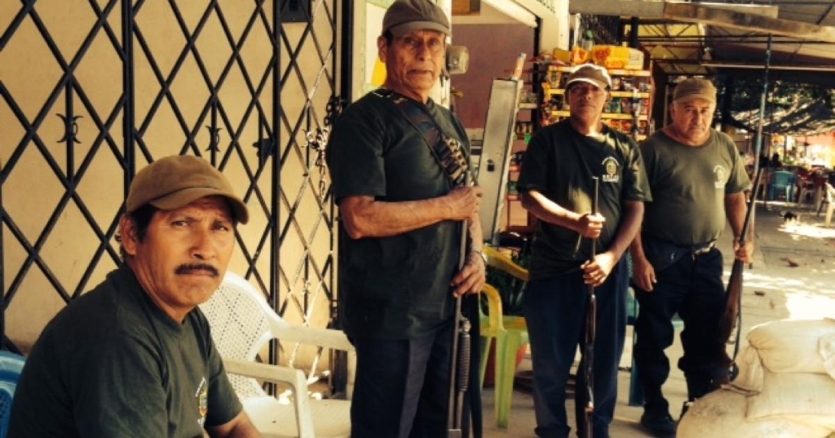 Mexican community police in Tierra Colorada, Guerrero state.</p>
