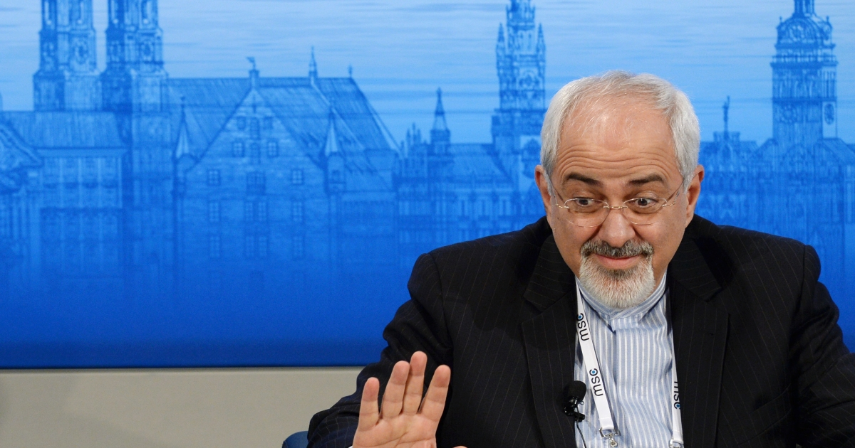 Iranian Foreign Minister Mohammad Javad Zarif on February 2, 2014 in Munich, southern Germany.</p>