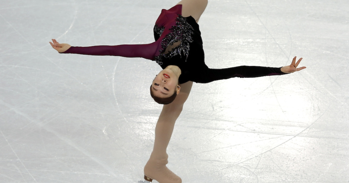 South Korea's Kim Yuna performs in the Women's Figure Skating Free Program at the Iceberg Skating Palace during the Sochi Winter Olympics on February 20, 2014.</p>